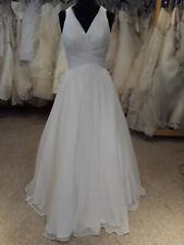 Lore' Designer Wedding Dress, sz 12, White Chiffon Ballgown