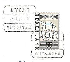 2 scans: Brief met Blokstempel Trein Utrecht-Vlissingen 1978 1 !! (niet in S&P)