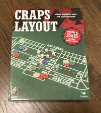 New Cardinal Games Craps Layout Felt Mat with Game Instructions 35x35
