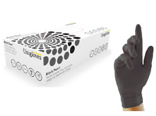 More details for box 100 200 500 1000 unigloves black pearl nitrile powder free disposable gloves
