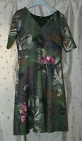 Kaleidoscope ~ Ladies Short Sleeve Floral Dress With Stretch ~ Size 10 ~ NWT