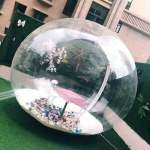 Inflatable Bubble Igloo Tent Transparent 360° Dome Outdoor Camping Exhibition