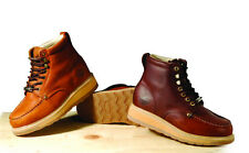 New Mens Burgundy Leather Steel Toe Work Boots Bonanza 612ST Shoes Size 10