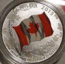 2015 $25 Dollar .9999 Fine Silver 'Canada Flag' Commemmorative coin