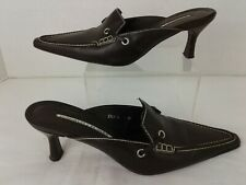 Donald J Pliner Womens Brown Mules Size 6.5 M