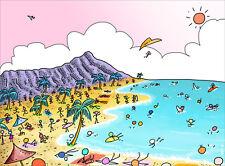Go Beach original signed print by Ian Taylor Hawaii