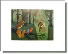 DISNEY Sleeping Beauty Woodland Art Print 11x14 FRAMELESS retired image