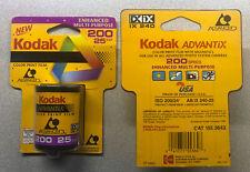 (2) Kodak Advantix 200 - Color print film Aps Iso 25 exposures