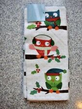 New listing Owl Kitchen Towels, Set of 2, Nwt, by St. Nicolas Sq., 100% Cotton, Winter Motif