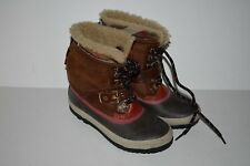 Burberry 'Windmere' Shearling Boots Brown Girls Size 34 MSRP $335