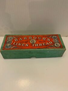 VINTAGE BARBOUR'S LINEN THREAD ORIGINAL BOX WITH THREAD LISUBRN IRELAND