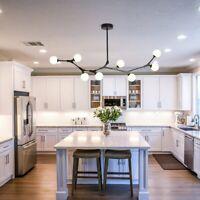 Sputnik Chandelier Ceiling 8 Light Pendant Lamp Hanging Fixture Modern Kitchen