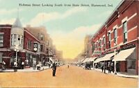 HAMMOND INDIANA~HOHMAN STREET LOOKING SOUTH FROM STATE STREET POSTCARD 1910s