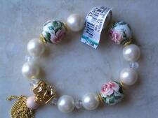 "~Brighton Bracelet ""Queen's Garden"" Rose Beads w Crystals Mfil Collection.Nwt!~"
