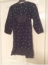 DOROTHY PERKINS TUNIC TOP. Size 10. Navy floral