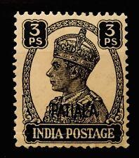 MNH PATIALA INDIAN STATE OVERPRINT KGVI 3 PIES GREY 05200120