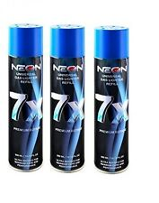 Neon 7x Ultra Refined Butane Fuel Lighter Gas 300ml - (3) Cans