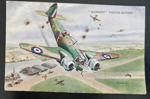1943 Cirencester England Postcard Cover To Somerset Blenheim Bomber airplane