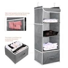 4 Section Wardrobe Hanging Clothes Storage Organiser Holder Closet Drawer Shelf