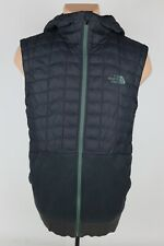 The North Face TNF Mens S Thermoball Full Zip Hooded Quilted Sleeveless Vest