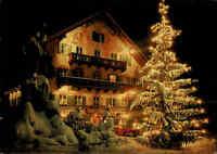 Kochel am See Oberbayern Bayern Weihnachten Weihnachtsbaum alte AK color ~ 1970
