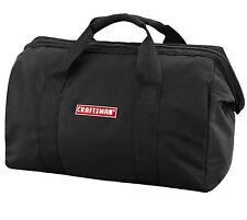 "Craftsman 20 x 9 x 12"" Large Black Nylon Tool Bag Zipper top closure  NEW"