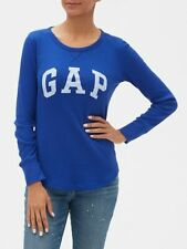 BNEW Gap Logo Waffle T-Shirt, Neptune Blue, Small
