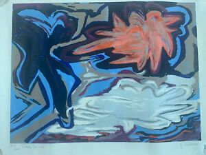 Three Forms-Gladys Burrows Signed Lithograph Print American Mid Century Modern