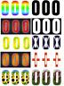 3 x Wheelie Bin House Numbers Stickers Wheely Dustbin Sticker Vinyl - 3 Pack