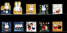 Japan 2019  Miffy Rabbit 84Y Complete Used Set of 10  Sc# 4324 a-j