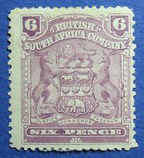 1898 RHODESIA 6d SCOTT# 65 S.G.# 83 UNUSED                               CS09689