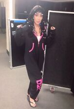 """Cher """"Dressed To Kill"""" Tour Zippered Hooded One Piece.(L) Brand New! Rare!"""