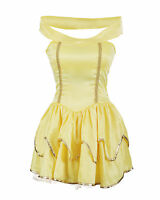 Belle Fancy Dress Ladies Princess Hen Halloween Costume Size 6 8 10 12 14 16