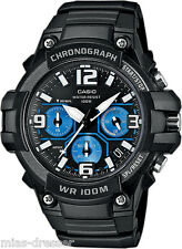 Casio Men's Chronograph Watch, 100 Meter WR, Black Resin, Date, MCW100H-1A2