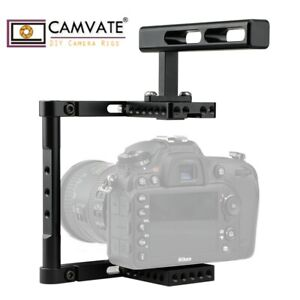CAMVATE DSLR Camera Cage Rig Top Handle Accessory Universal for Sony A7SII Canon