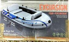 Intex Inflatable 4 Person Excursion Raft Boat, Aluminum Oars, Air Pump, FreeShip