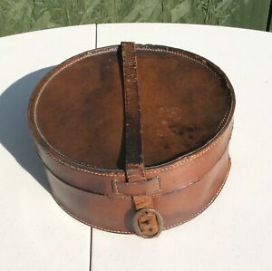 Vintage Leather Gentlemans Shirt Collar Box