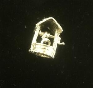 Solid Silver Vintage CHARM  : WISHING WELL . Excellent
