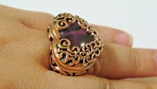 Size 6, Barse Heart Ring, Genuine Amethyst w/ Copper, MSRP $95
