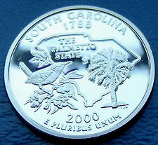 MIRROR PROOF 2000 USA South Carolina Frosted Washington details with Holder