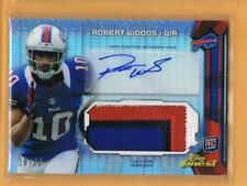 2013 Finest Refractor Robert Woods Autograph Patch Rookie 10/25 Bills Jersey #