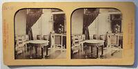 Parigi Grand Trianon Foto Stereo di Carta Vintage Verso