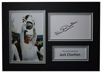 Jack Charlton Signed Autograph A4 photo display Leeds Football AFTAL COA