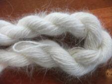 One skein white 100% angora bunny rabbit fur yarn lot