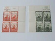 United Nations stamps, Scott 29-30, plate blocks of 4, Vf, og, Mnh