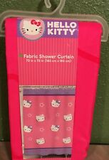 Hello Kitty Fabric Shower Curtain with Stars By Sanrio NEW