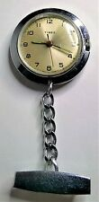 CUTE STAINLESS STEEL TIMEX, FOB WATCH WITH HANGER, FWO!.