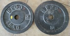 lot of 2 Vintage BFCO 10 lb Standard Weight Plates 20 lbs Total