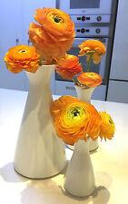 NEW SET 3 WHITE VASE CERAMICS FOR FLOWER BOWL PORCELAIN POTTERY HOME DECOR VASES