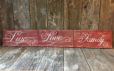 LIVE LOVE FAMILY Sign Inspirational Home Beach Wedding Gift Country Home Decor